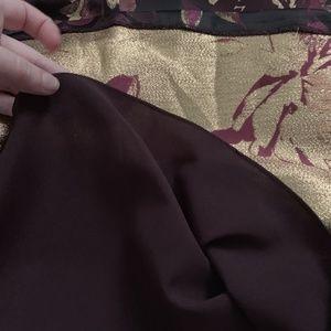 Eliza J Dresses - Eliza J Floral Midi Dress Wine Metallic